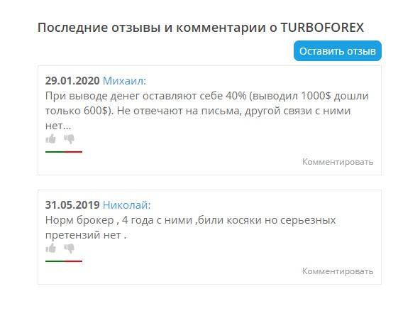turboforex отзывы клиентов про сотрудничество