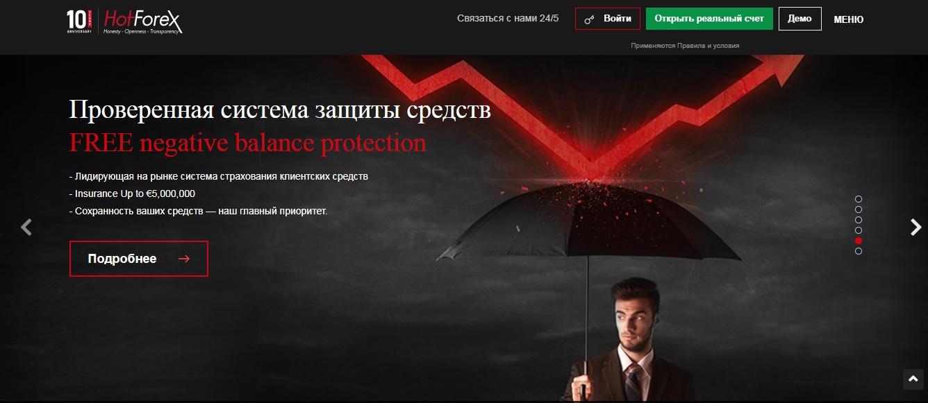 защита средств клиентов hotforex