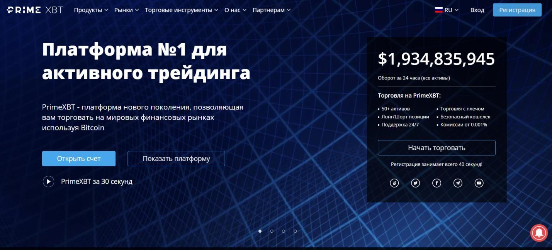 торговая платформа от prime xbt