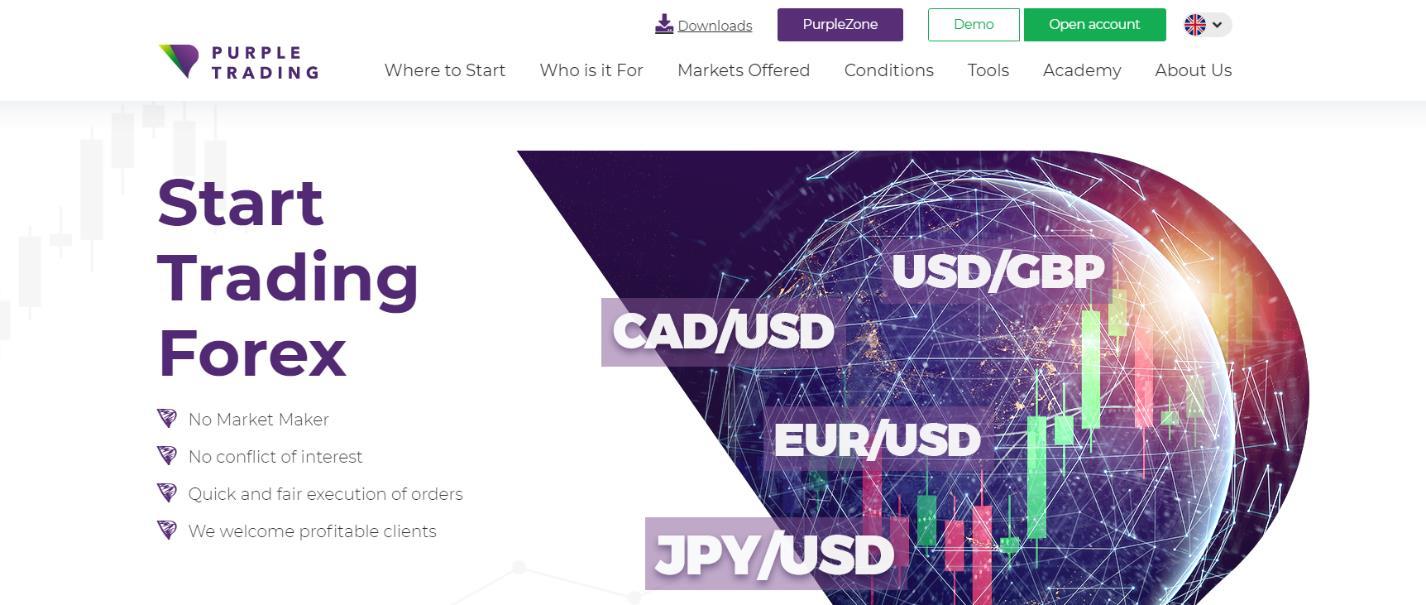 обзор брокера purple trading