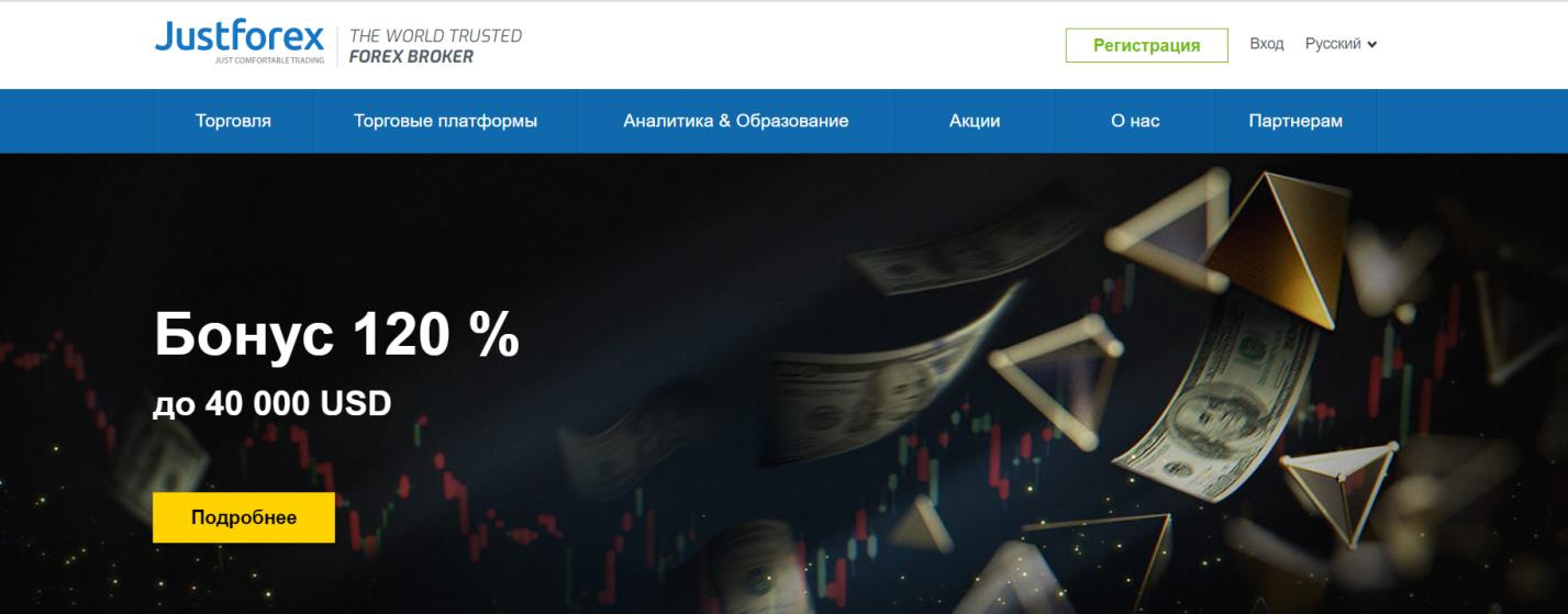 анализ сайта justforex