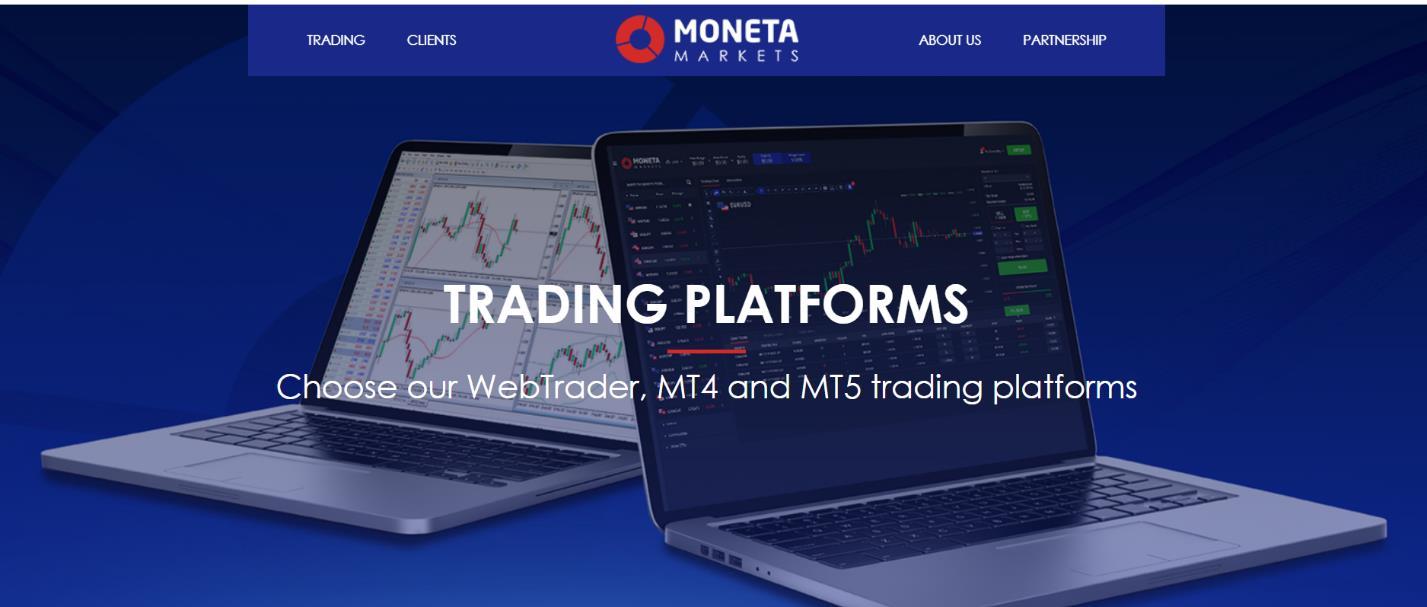 какие платформы у moneta markets