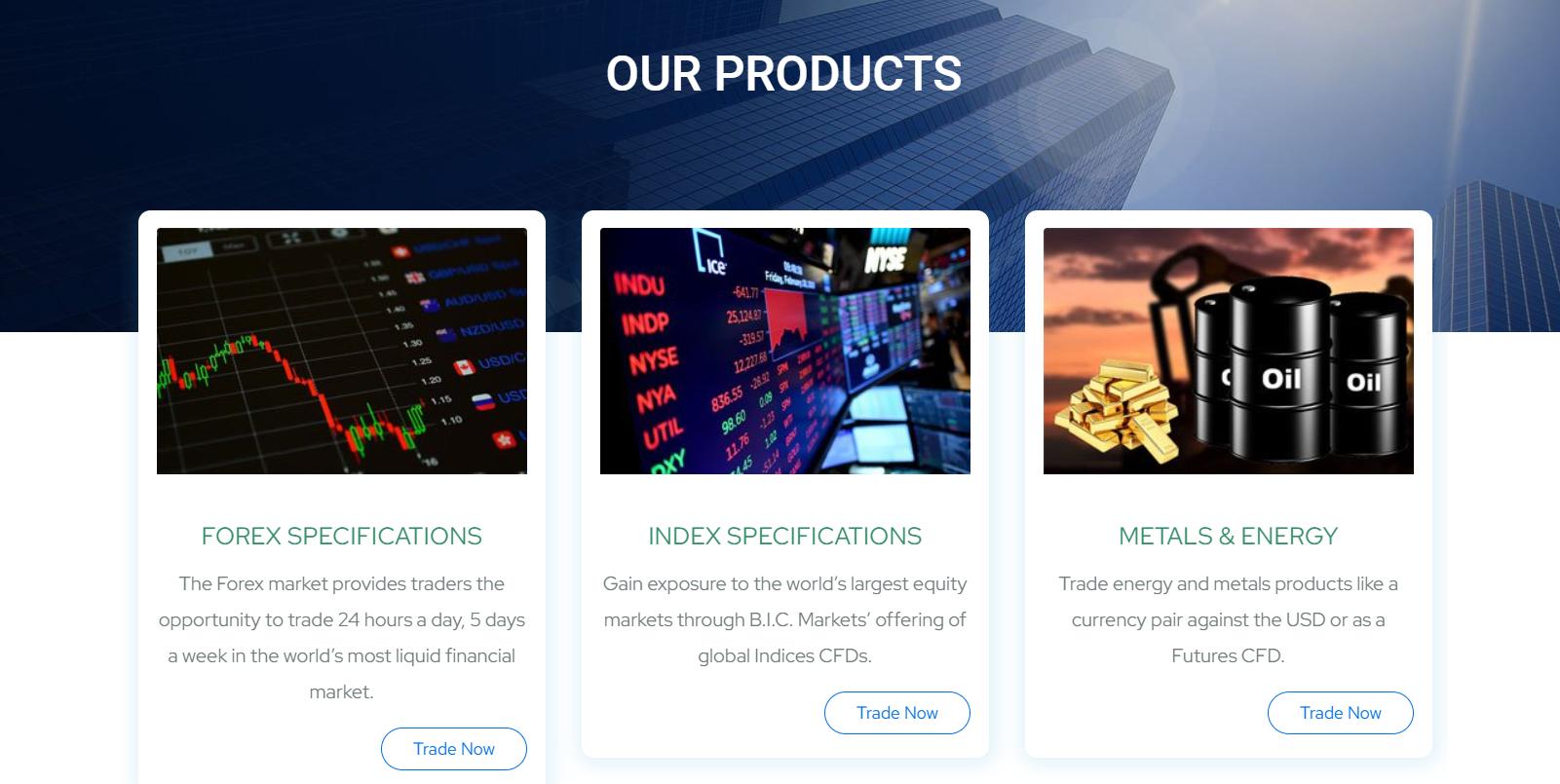 b.i.c. markets торговые инструменты