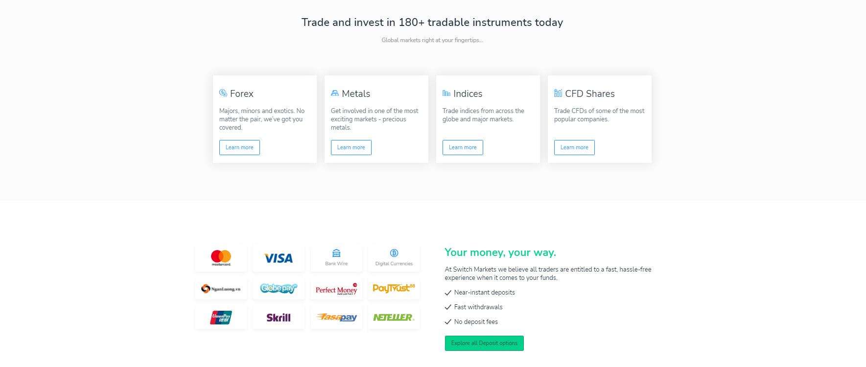 switch markets торговые инструменты
